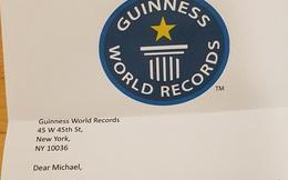 Thanh niên ''được'' Guinness viết thư từ chối vì kỷ lục không ai thèm phá, đã thế còn sai kiến thức cơ bản