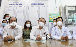 Bí thư Nguyễn Văn Nên thăm chiến sĩ công an TP.HCM nhiễm Covid-19 nặng: 'Mong bác sĩ giúp đồng chí Đ. vượt qua cơn hiểm nghèo'