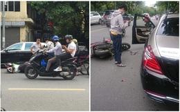 Đâm móp đuôi Mercedes-Maybach giá hơn chục tỷ, nam shipper mặt tái mét: Vụ tai nạn đắt đỏ trên phố Hà Nội