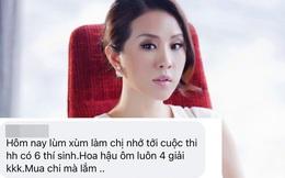 Trước khi dính ồn ào với Vy Oanh, Thu Hoài bị nhiều người tố mua giải hoa hậu