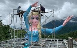 """Vụ tượng """"nữ hoàng băng giá Elsa"""" vi phạm xây dựng ở Sa Pa: Sẽ cưỡng chế nếu chủ cơ sở không tháo dỡ"""