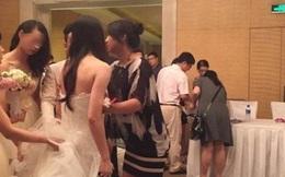 Phù dâu bị nhóm khách nam giở trò ngay tại đám cưới, thái độ người xung quanh gây phẫn nộ