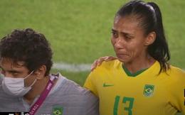 Tuyển Brazil khóc như mưa vì bị loại đầy kịch tính trên chấm luân lưu ở Olympic