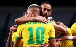 """""""Truyền nhân Ro béo"""" tỏa sáng, Brazil hóa giải ngựa ô, lọt vào bán kết Olympic"""
