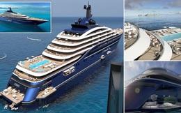 Chiêm ngưỡng siêu du thuyền lớn nhất thế giới dài 220 mét có 39 căn hộ, mỗi căn hộ có giá 11 triệu USD
