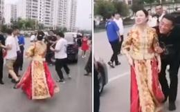 ''Nóc nhà'' chất lượng cao: Cô dâu cầm que dằn mặt hội bạn ngay trong ngày cưới vì dám đùa dai chồng mình