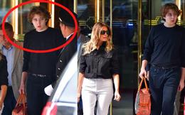 """""""Quý tử nước Mỹ"""" Barron Trump lộ diện xách túi cho mẹ tại tòa nhà của gia đình, gây choáng với chiều cao hiện tại đã hơn 2m"""