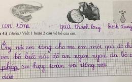 Cô nhóc làm bài văn tả bố, đang viết dở nghề nghiệp bỗng xóa vội khiến chị gái kêu lên: Không biết ai bày cho nữa!