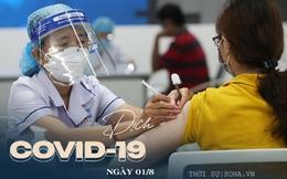 Hàng vạn người Quảng Ninh đã được tiêm vắc xin Sinopharm. Trong ngày 01/8 ghi nhận 8.620 ca COVID-19 mắc mới