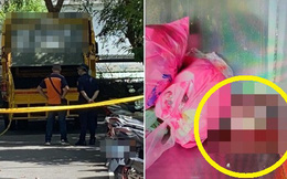 Công nhân vệ sinh hoảng hốt vì thấy thi thể trẻ sơ sinh rơi ra từ bọc nylon, CCTV ghi lại hình ảnh thủ phạm khiến dư luận phẫn nộ