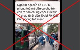 Hà Nội nói gì về thông tin 10 trẻ em cùng ngõ ở Đội Cấn mắc Covid-19?