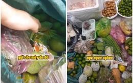 """Mẹ gửi """"chút"""" thực phẩm tiếp tế lên Sài Gòn cho con trai, nhìn thùng đồ mà anh chàng thảng thốt"""