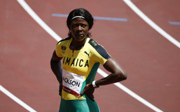 """Đi bộ về đích, siêu sao điền kinh Jamaica bị loại """"cay đắng"""" ở Olympic Tokyo"""