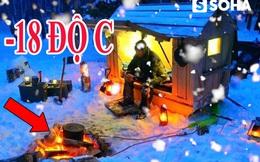 Để sống sót qua đêm giữa rừng sâu lạnh -18 độ C, anh chàng này đã chế tạo lò sưởi đặc biệt