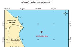 Động đất trên biển Đông, cách bờ biển Quảng Bình khoảng 30 km