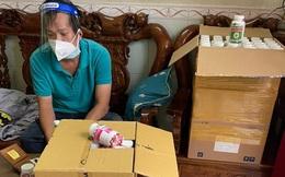 Đường dây sản xuất thuốc điều trị COVID-19 giả được đóng gói trong nhà vệ sinh