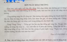 Bài thi Tiếng Việt ghi khai giảng vào 'cuối thu' chứ không phải 'đầu thu', tưởng nhầm lẫn nhưng nghe giải thích mới thấy hợp lý quá chừng