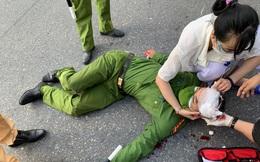 Hà Nội: Nam sinh viên đi xe máy không biển tông đại uý công an chốt kiểm dịch nhập viện