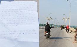 Tin mới vụ người phụ nữ Yên Bái nghi nhảy sông tự tử để lại thư tuyệt mệnh nói bị chồng bạo hành
