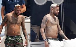 Neymar lộ bụng mỡ sau 3 tuần rời xa bóng đá