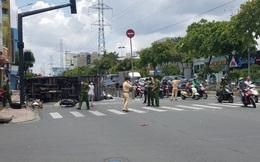 Tai nạn liên hoàn giữa xe tải, xe máy và xe đạp ở Sài Gòn