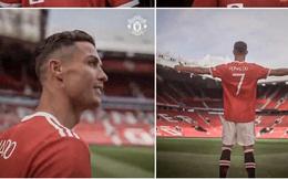 Ronaldo lần đầu tiên mặc áo MU và sải bước trên sân Old Trafford sau 12 năm