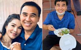 Ngày sinh nhật vợ, Quyền Linh: Anh đi lo cho bà con đây, hết dịch lo cho bà xã nhé