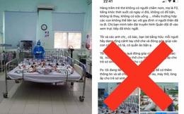 Sự thật thông tin hàng trăm trẻ thơ có mẹ F0 không người chăm sóc, thiếu thốn đủ điều tại bệnh viện Hùng Vương