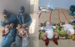 2 bé sơ sinh F0 bị bỏ rơi và những đêm trắng tranh nhau bế bồng của các nhân viên y tế tại BV dã chiến số 4