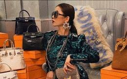 Lệ Quyên 1 mình ngồi giữa 10 chiếc túi Hermès, bộ đôi cá sấu bạch tạng siêu hiếm giá chục tỷ chiếm spotlight