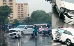 Mercedes-Benz GLC va chạm Jaguar F-Pace ngày thứ 2 nới lỏng giãn cách: 1 tấm hình mà thấy kha khá tiền
