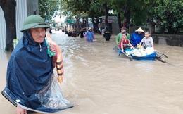 Thủy điện và hồ đập xả lũ, nhiều tuyến quốc lộ và nhà dân ở Nghệ An ngập sâu trong nước