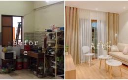 Chỉ với 350 triệu đồng, căn chung cư cũ, bừa bộn biến thành căn hộ sang trọng