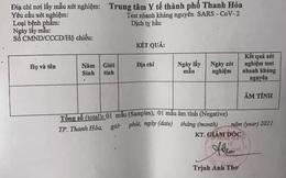 Yêu cầu kiểm điểm việc cấp phiếu test nhanh Covid-19 để trống thông tin