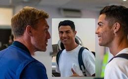 Ronaldo đã đến Manchester, ban lãnh đạo M.U hồ hởi ra tận sân bay đón