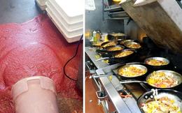 Những cảnh tượng quen thuộc trong bếp của các nhà hàng có thể sẽ khiến thực khách phải sửng sốt, nghề nấu nướng quả là vất vả!