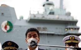 Tàu sân bay Anh đón Bộ trưởng quốc phòng Nhật lên thăm