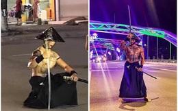Người đàn ông cải trang thành võ sĩ, tay cầm kiếm gây náo loạn đường phố Thái Nguyên