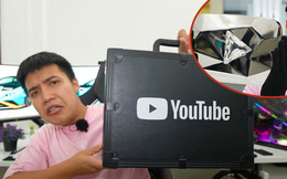 NTN 'đập hộp' nút kim cương YouTube, có gì đặc biệt trong chiếc vali 'trị giá' 10 triệu subscribe?