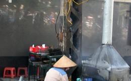 Dân Hà Nội biến gốc cây, cột điện thành bếp ăn