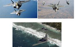 """Bộ ba máy bay tàng hình Mỹ """"bao vây"""" Trung Quốc"""