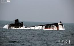 """Tàu ngầm HĐ Bắc Hải TQ lại kéo ra """"biển lạ"""" tập trận"""