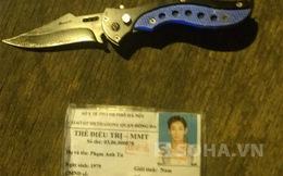 Mang dao hình lưỡi lê đi phòng thân, bị 141 bắt