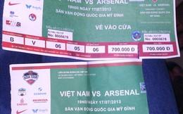 Xuất hiện hàng loạt vé giả trận Việt Nam vs Arsenal