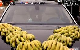 Cực độc: Trang trí xe rước dâu bằng... chuối tiêu