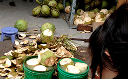 Dừa tẩy trắng bằng hóa chất độc hại bán tràn lan
