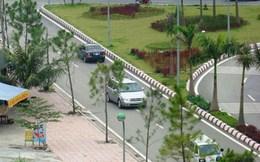 Quảng Ninh: Xe biển xanh hồn nhiên đi ngược chiều