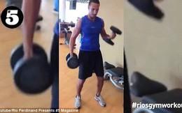 "Rio Ferdinand khoe clip ""hùng hục"" tập gym"