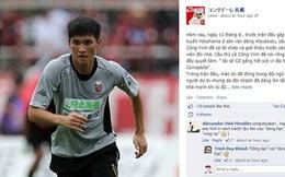 """Fanpage CLB Consadole Sapporo đăng status tiếng Việt """"nịnh"""" Công Vinh"""