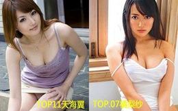 Diễn viên phim nóng Nhật vào top 20 người đẹp châu Á
